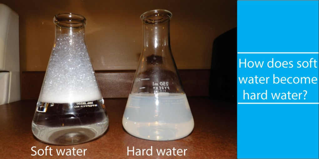 How does soft water become hard water