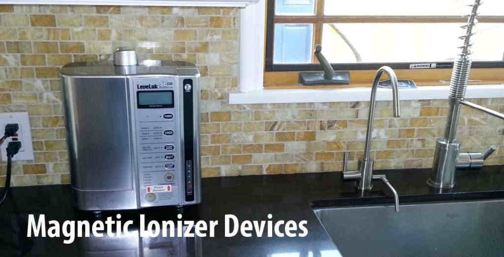 attach magnetic ionizer devices to water pipes