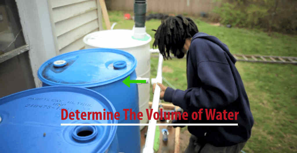 Determine the volume of water applied by your household