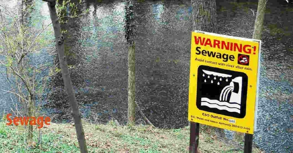 What are the causes of water pollution-Sewage