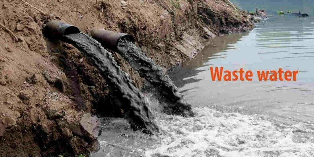 What are the causes of water pollution-Wastewater