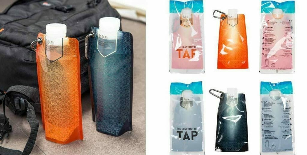 Finally TheTap Antibacterial Collapsible Water Bottle