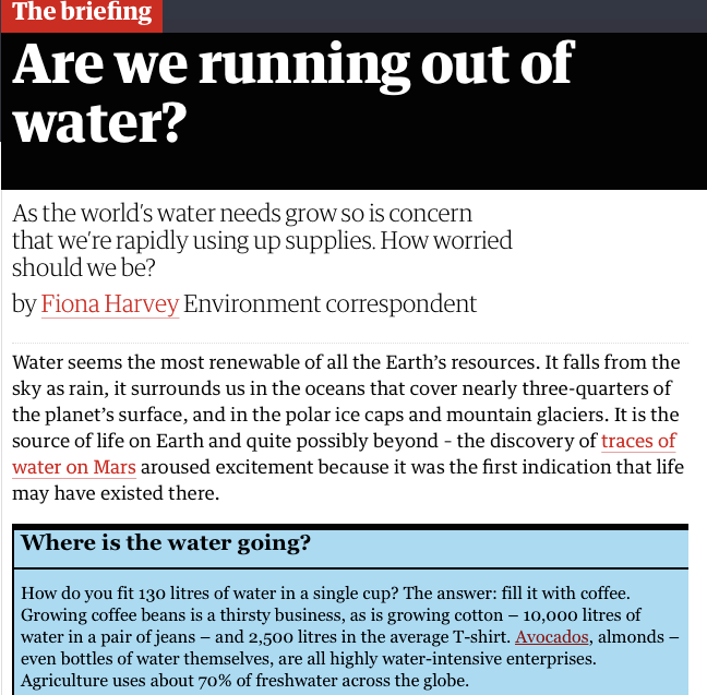 Are we running out of water