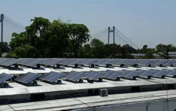Rainwater harvesting through solar panels