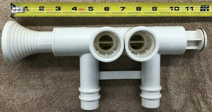 Instructions for installing the GE Water Softener Bypass Valve